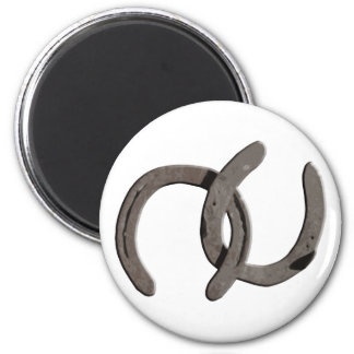 Grey Horse Shoes Magnet