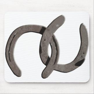 Grey Horse Shoes Mousepads