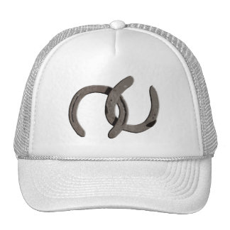 Grey Horse Shoes Trucker Hat