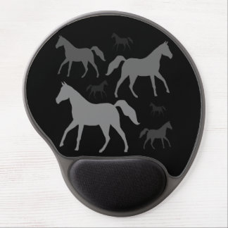 Grey Horse Silhouette Gel Mousepad