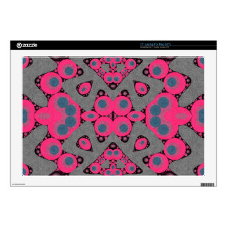 Grey Hot Pink Abstract Decals For Laptops