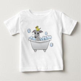 Grey Hound Dog Bath Time Baby T-Shirt