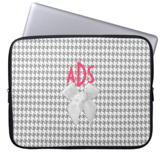 Grey Houndstooth Computer Sleeve