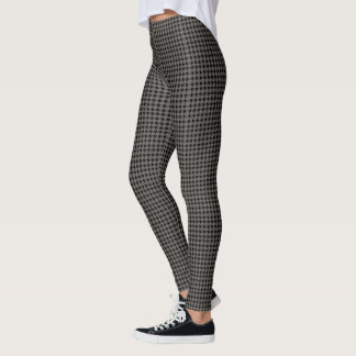 Grey Houndstooth Leggings