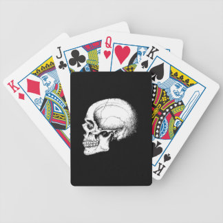 Grey Human Skull side Bicycle Playing Cards