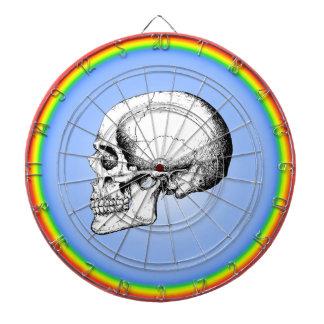 Grey Human Skull side Dart Board