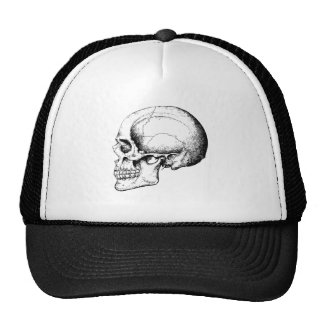 Grey Human Skull side Trucker Hat