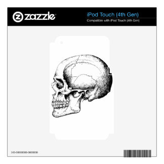 Grey Human Skull side iPod Touch 4G Decal