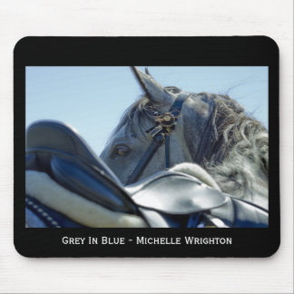 Grey In Blue Mouse Pad