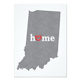 Grey INDIANA Home & Open Heart Card