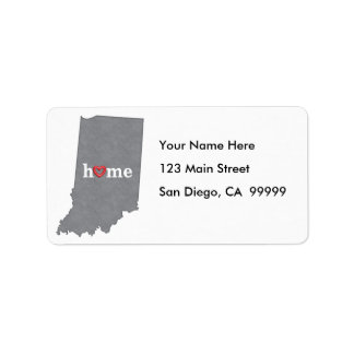 Grey INDIANA Home & Open Heart Address Label