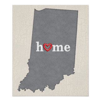Grey INDIANA Home & Open Heart Poster