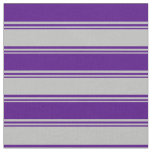 [ Thumbnail: Grey & Indigo Colored Stripes Fabric ]
