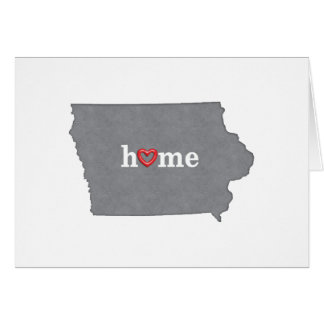 Grey IOWA Home & Open Heart Greeting Card