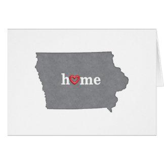 Grey IOWA Home & Open Heart Card
