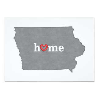Grey IOWA Home & Open Heart 5x7 Paper Invitation Card