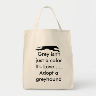 Grey isn't just a color... grocery tote bag