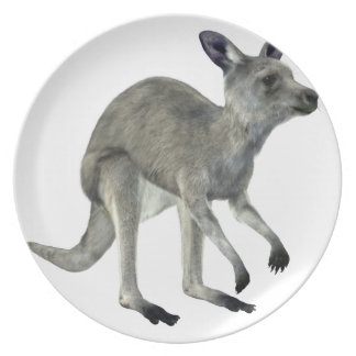 Grey Kangaroo Dinner Plate