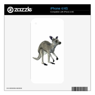 Grey Kangaroo Skin For iPhone 4S