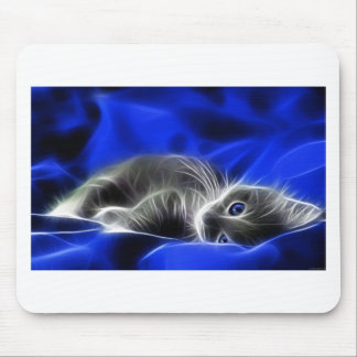 Grey Kitten Awakes Mouse Pad