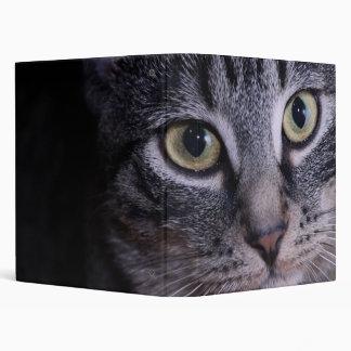 Grey Kitten Face Binder