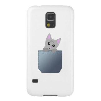 Grey Kitten In A Denim Pocket Illustration Case For Galaxy S5