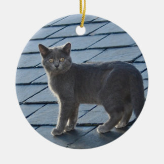 Grey Kitten Ornament