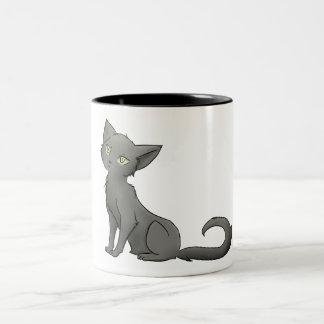 Grey kitty mug