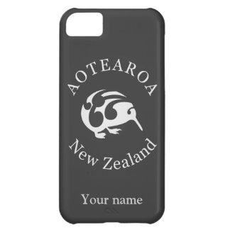 Grey Kiwi with Koru, Aotearoa, New Zealand Cover For iPhone 5C