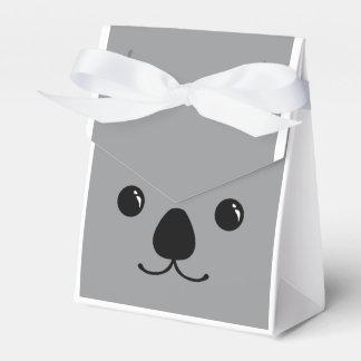 Grey Koala Cute Animal Face Design Favor Box