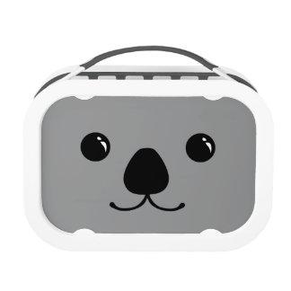 Grey Koala Cute Animal Face Design Lunch Box