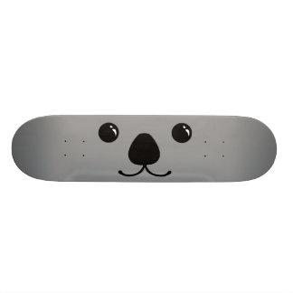 Grey Koala Cute Animal Face Design Skateboard Deck