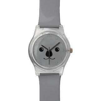 Grey Koala Cute Animal Face Design Watch