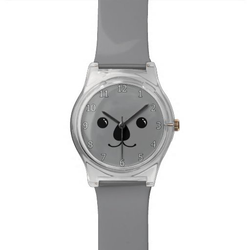 Zazzle Grey Koala Cute Animal Face Design Watch