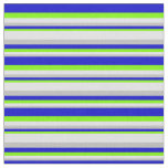 [ Thumbnail: Grey, Lavender, Green & Blue Colored Pattern Fabric ]