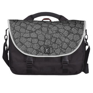 GREY LEATHER LAPTOP BAG