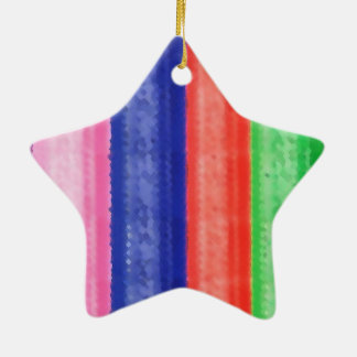 GREY LEATHER Double-Sided STAR CERAMIC CHRISTMAS ORNAMENT