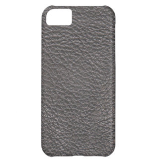 Grey Leather Print Texture Pattern Cover For iPhone 5C