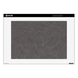Grey Leather Print Texture Pattern Decals For Laptops