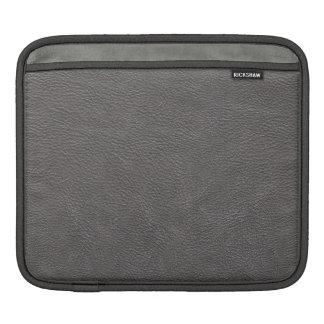 Grey Leather Print Texture Pattern iPad Sleeve