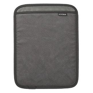 Grey Leather Print Texture Pattern Sleeve For iPads
