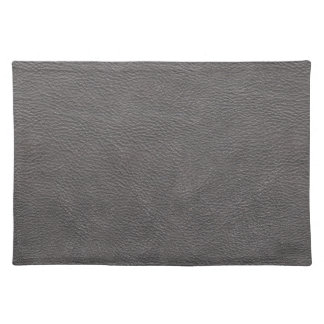 Grey Leather Print Texture Pattern Cloth Place Mat