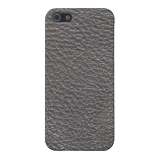 Grey Leather Texture Pern Case For iPhone SE/5/5s