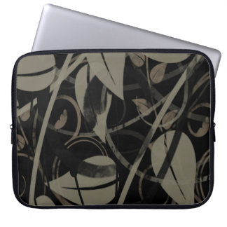Grey leaves Laptop Sleeve