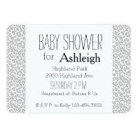 Leopard print baby shower invitations announcements zazzle grey leopard print baby shower filmwisefo