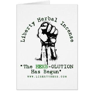 "Grey Liberty Herbal Incense ""Herbolution"" T- Shirt Card"