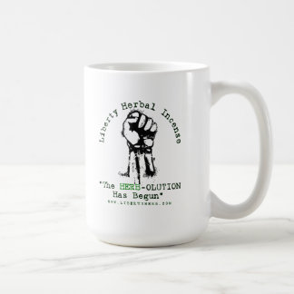 "Grey Liberty Herbal Incense ""Herbolution"" T- Shirt Coffee Mug"