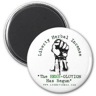 "Grey Liberty Herbal Incense ""Herbolution"" T- Shirt Magnet"