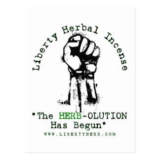 "Grey Liberty Herbal Incense ""Herbolution"" T- Shirt Postcard"