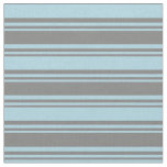 [ Thumbnail: Grey & Light Blue Pattern of Stripes Fabric ]